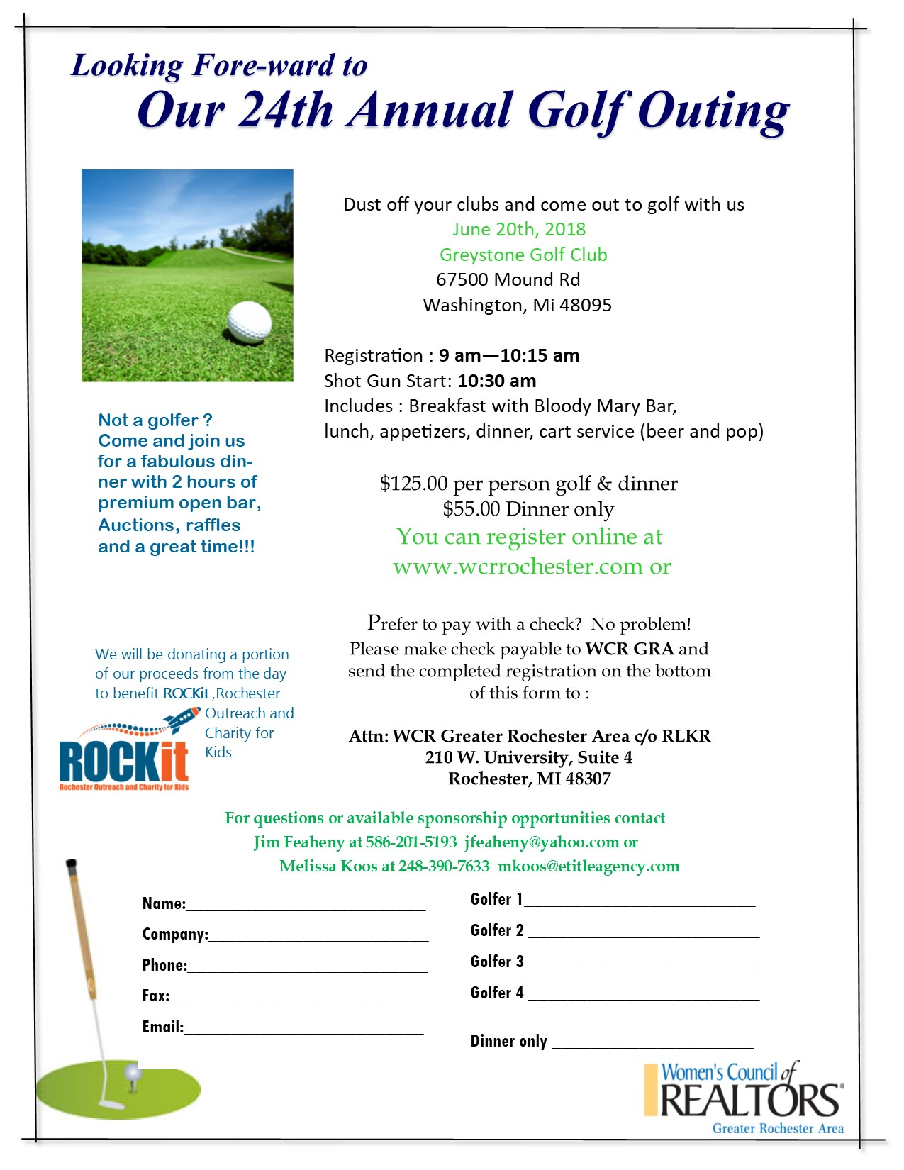 women's council of realtors- greater rochester area - golf outing
